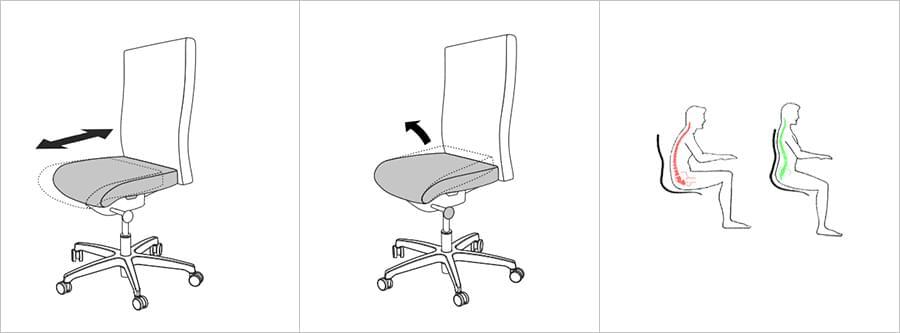 Anatomically-shaped seat